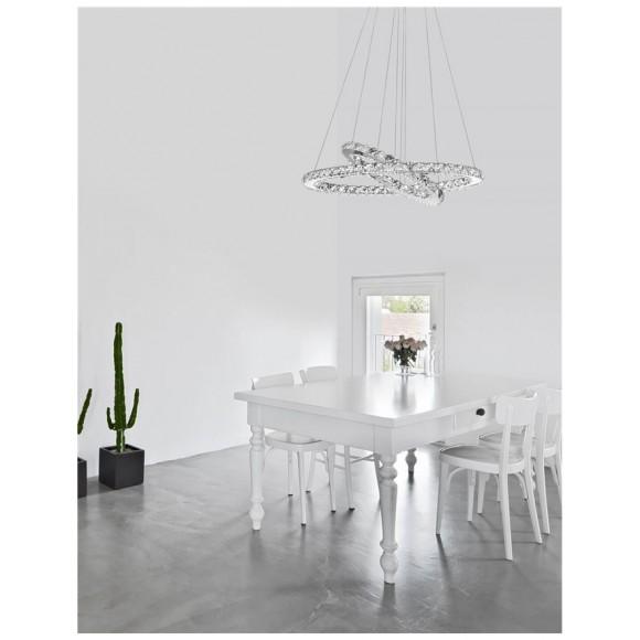 Φωτιστικό κρεμαστό με κρυσταλλα LED Celine 7403001 novaluce