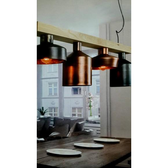 φωτιστικο απο ξυλο χαλκο και μεταλλο ιδανικο για κουζινες και εστιατορια