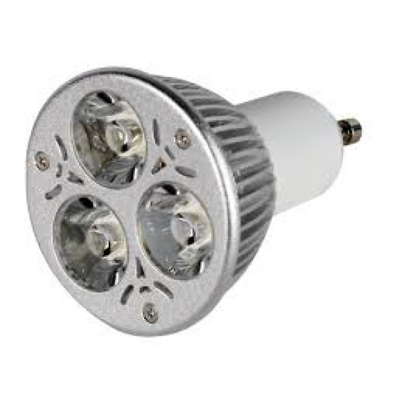 φωτιστικα led spot GU1O LED 3X1WATT λαμπα led GU10