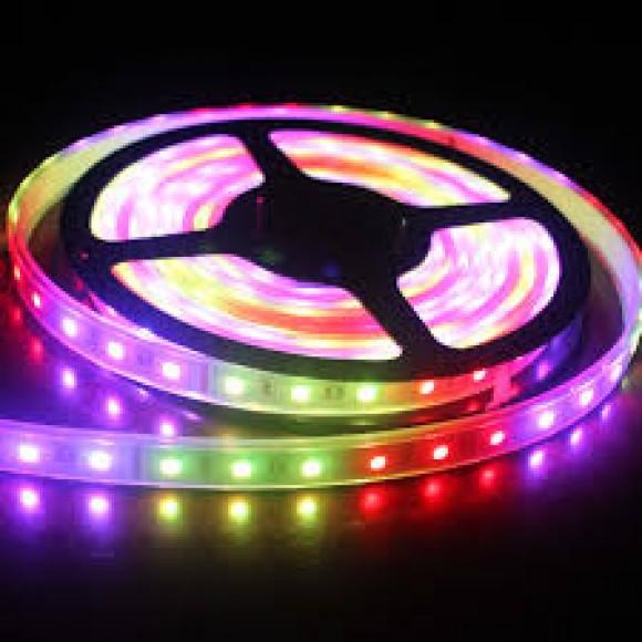 φωτιστικα led LED Ταινία Αδιάβροχη 14.4W IP20 Χρώμα RGB LED STRIPS ΤΑΙΝΙΑ LED