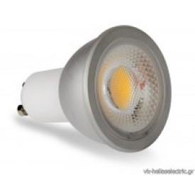 φωτιστικα led ΛΑΜΠΑ LED COB GU10/6W WW 3000K λαμπα led GU10