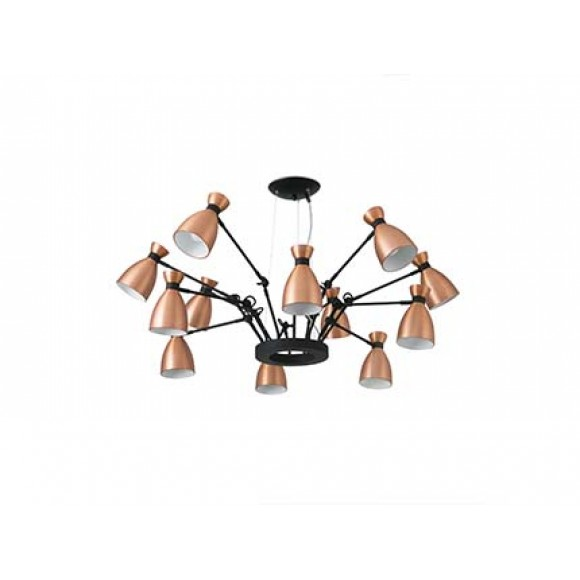 faro RETRO Copper pendant lamp 12L Faro Barcelona Light