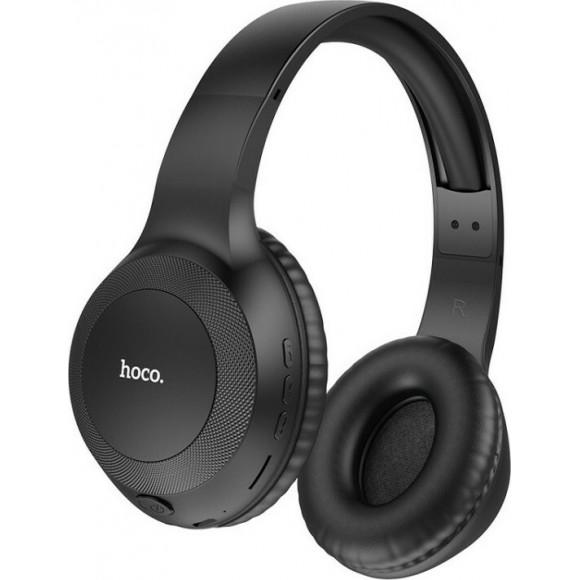 Wireless Ακουστικά Stereo Hoco W29 Outstanding V5.0 Μαύρα με Μικρόφωνο, υποδοχή Micro SD, AUX & Πλήκτρα Ελέγχου