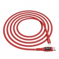 Καλώδιο σύνδεσης Hoco S6 Sentinel USB σε USB-C 2.4A Κόκκινο 1.2μ με οθόνη ένδειξης φόρτισης