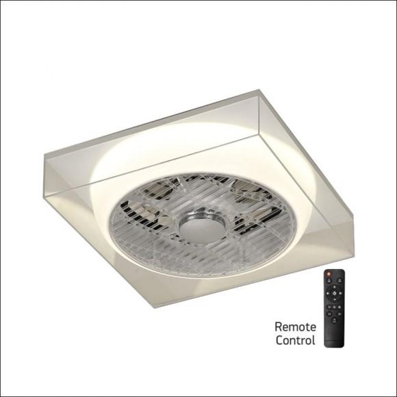 Ανεμιστήρας Τετράγωνος Οροφής με Φως και Τηλεχειριστήριο SpotLight 3244