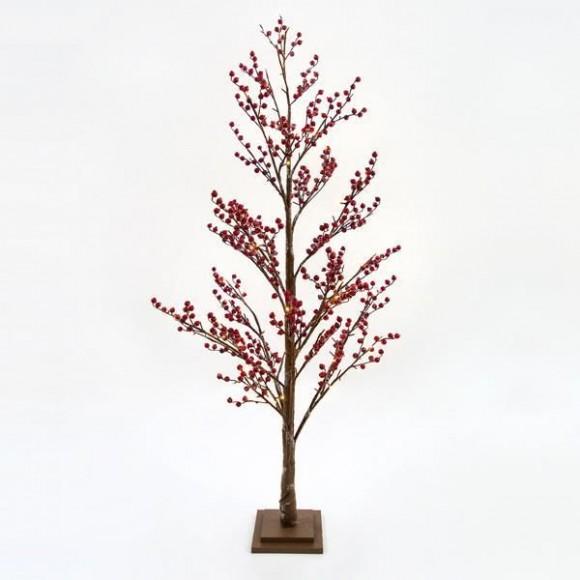 Δέντρο φωτιζόμενο με Berries 180cm 600-30568 Eurolamp
