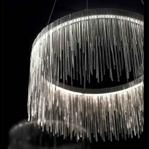 φωτιστικα led Ideal Versus Στρογγυλό Μεταλλικό Πολύφωτο Χρωμίου LED 137032