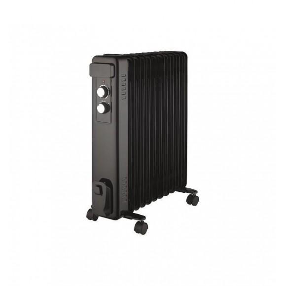 Ηλεκτρικό Καλοριφέρ Λαδιού 11 Φέτες 2500W Μαύρο Eurolamp 300-41701