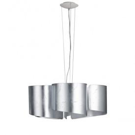 Luce Ambiente Φωτιστικό Με Κυματιστό Γυαλί Ασημί Imagine