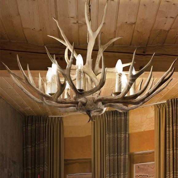 ΦΩΤΙΣΤΙΚΟ ΟΡΟΦΗΣ CHALET SP8 ideal lux απο φυσικο ξυλο