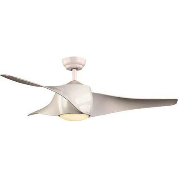 Ανεμιστήρας οροφής 3 ταχυτήτων με ένσωματωμένο LED 18W και τηλεχειριστήριο σε χρώμα λευκό Eurolamp | 147-29317