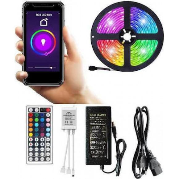 Έτοιμο σετ λεντοταινία RGB SMART WiFi στεγανή IP65 5m - spotlight 5133
